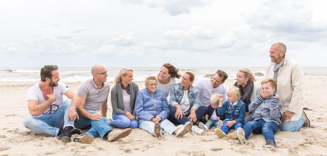Familieshoot aan het strand